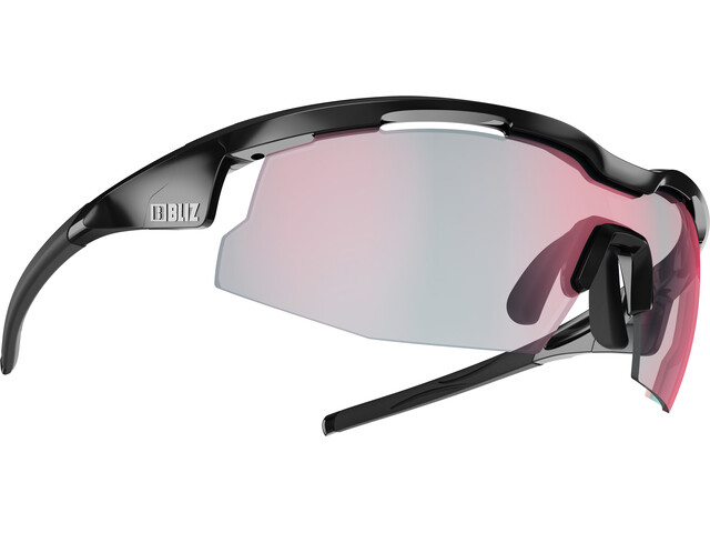Bliz Sprint M21 Brille Ultra Lens Science shiny black/photochromic brown with red multi